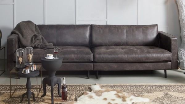 """Sofa Rodeo """"Classic"""" 3-Sitzer - Leder Black"""