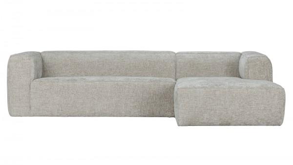 Longchair-Sofa Bean Rechts - Melange Natural