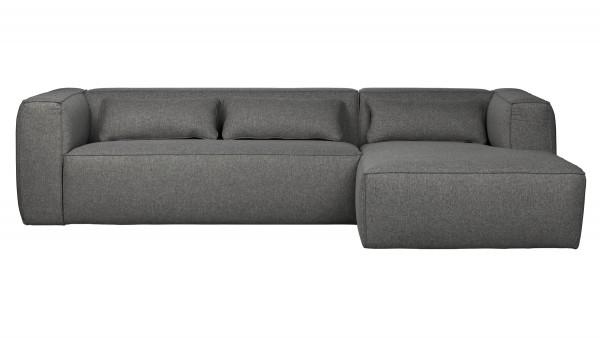Longchair-Sofa Bean Rechts - Stoff Mid Grey
