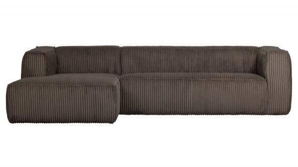 Longchair-Sofa Bean Links - Ribcord Mud