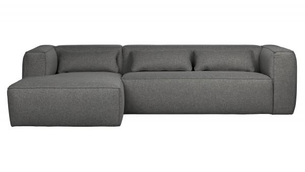 Longchair-Sofa Bean Links - Stoff Mid Grey
