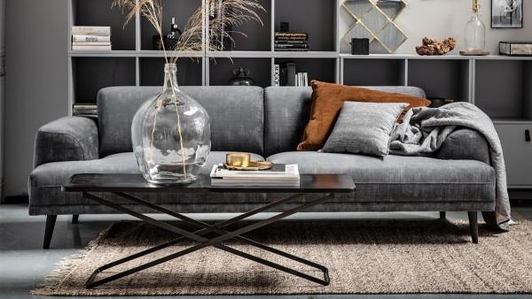 Sofa Brush 3-Sitzer - Samt Slate Grey