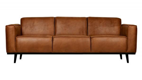 Sofa Statement 3-Sitzer - Leder Cognac