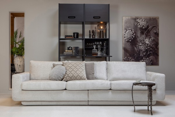 Sofa Fame 3-Sitzer 282 cm - Struktur Samt Shell