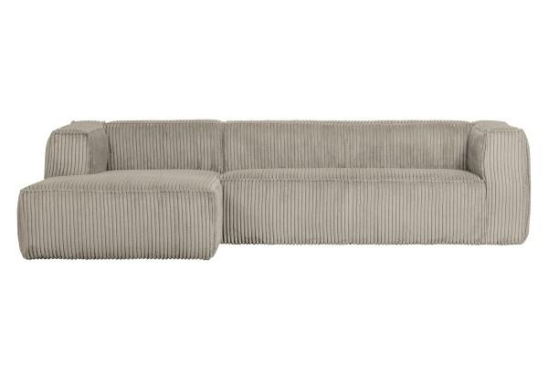 Longchair-Sofa Bean Links - Ribcord Naturel