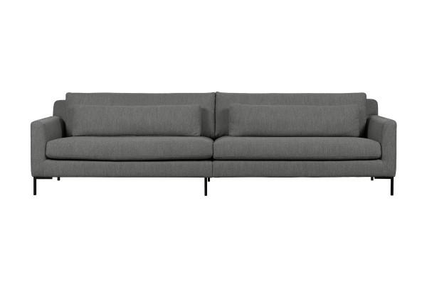 Sofa Hang out 4 Sitzer 280 cm - Stoff Bouclé Stahlgrau
