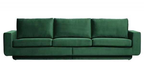 Sofa Fame 3-Sitzer - Samt Green Forest