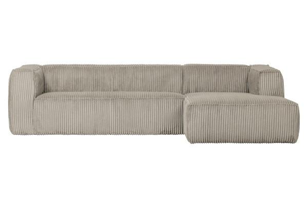 Longchair-Sofa Bean Rechts - Ribcord Naturel