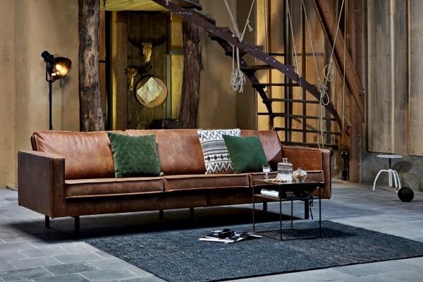 Sofa Rodeo 3-Sitzer 275 cm - Leder Cognac