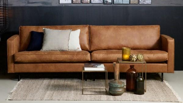"""Sofa Rodeo """"Classic"""" 3-Sitzer - Leder Cognac"""