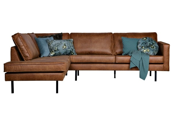 Ecksofa Rodeo Links - Leder Cognac