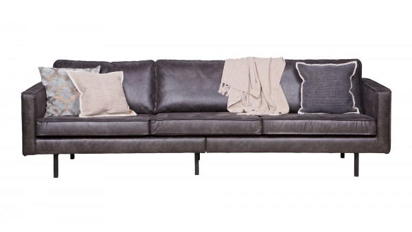 Sofa Rodeo 3-Sitzer - Leder Black