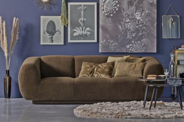 Sofa Woolly 3-Sitzer - Schaffell Green