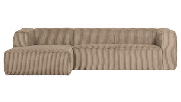 Longchair-Sofa Bean Links - Ribcord Travertin