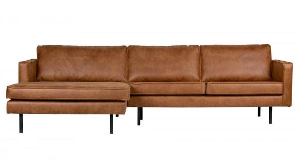 Longchair-Sofa Rodeo Links - Leder Cognac