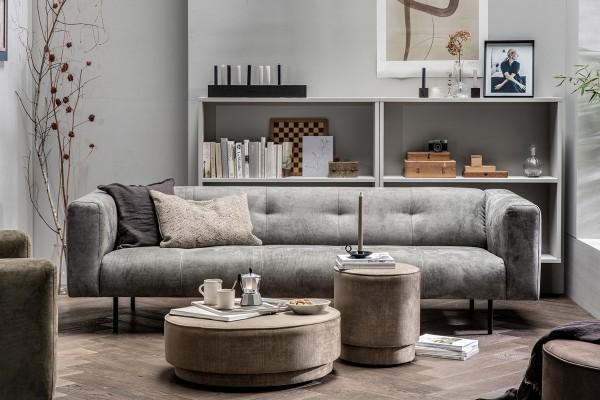 Sofa Skin 4 Sitzer 250 cm - Stoff Light Grey