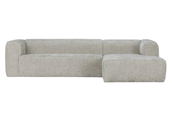 Longchair-Sofa Bean Rechts - Stoff Naturel