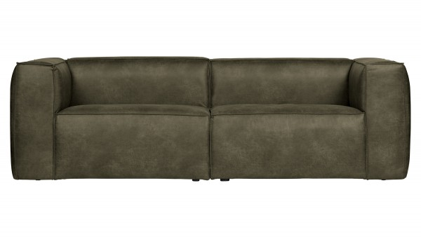 Sofa Bean 3,5-Sitzer - Leder Army