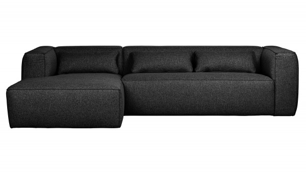 Longchair-Sofa Bean Links - Stoff Anthracite