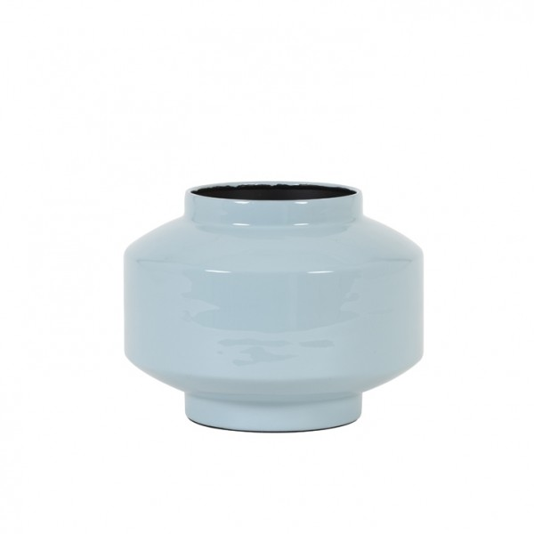 Vase Mourex - Ø24x18 cm - Hellbau