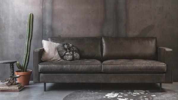 """Sofa Rodeo """"Classic"""" 2,5-Sitzer - Leder Black"""