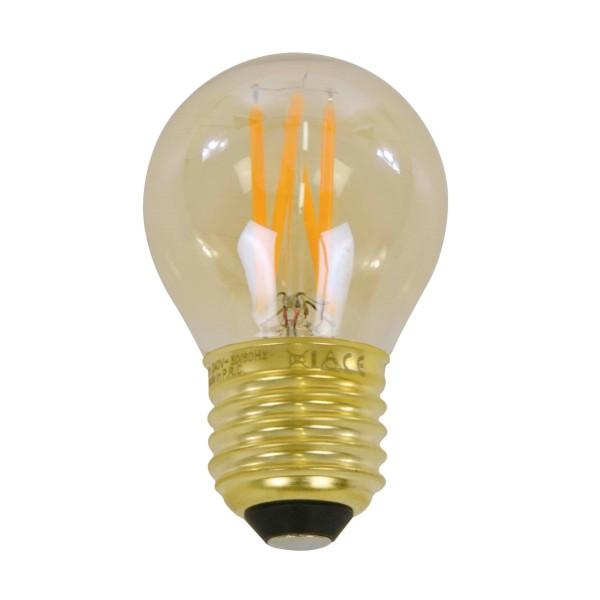 Glühbirne LED 4 Watt Filament Globus 4,5cm E27