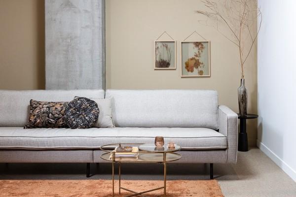Sofa Rodeo 3-Sitzer 275 cm - Stoff Nougat