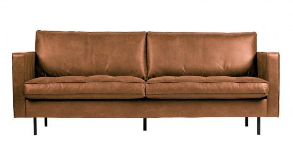 """Sofa Rodeo """"Classic"""" 2,5-Sitzer - Leder Cognac"""