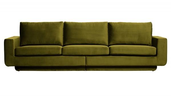 Sofa Fame 3-Sitzer - Samt Olive Green