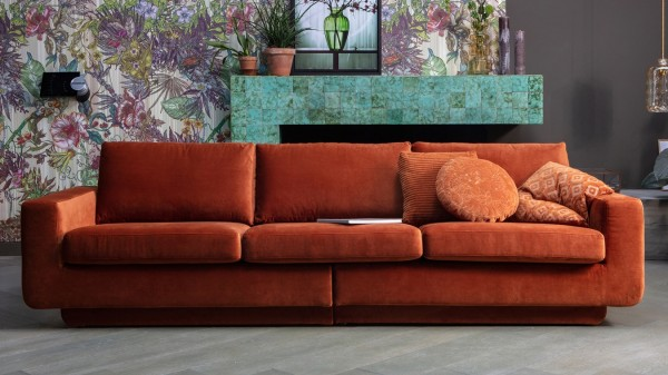 Sofa Fame 3-Sitzer - Samt Rust