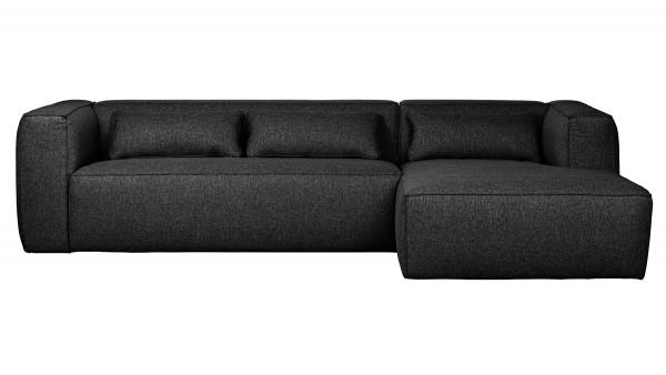 Longchair-Sofa Bean Rechts - Stoff Anthracite