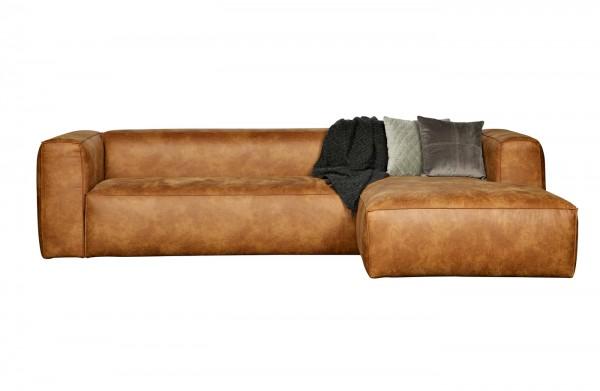 Longchair-Sofa Bean - Leder Cognac
