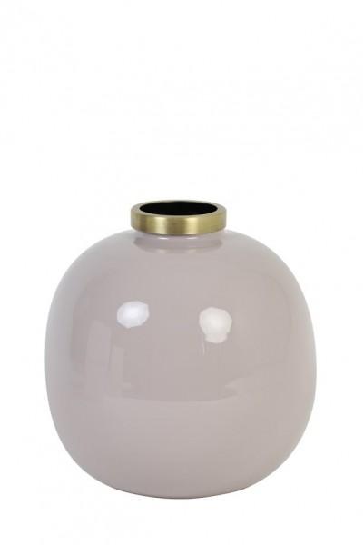 Vase Chow - Ø22x22 cm - Hellgrau