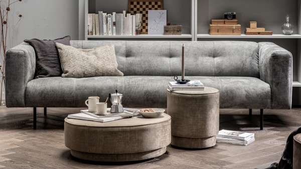 Sofa Skin 4 Sitzer - Stoff Light Grey