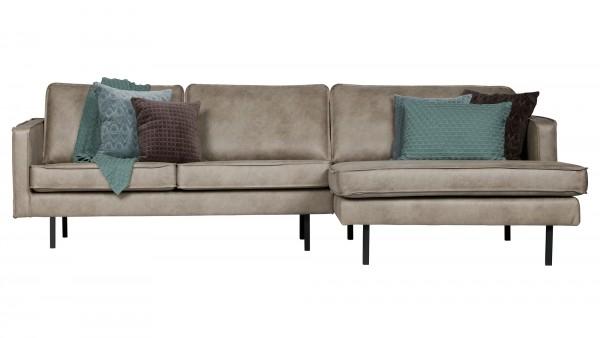 Longchair-Sofa Rodeo Rechts - Kunstleder Elephant Skin