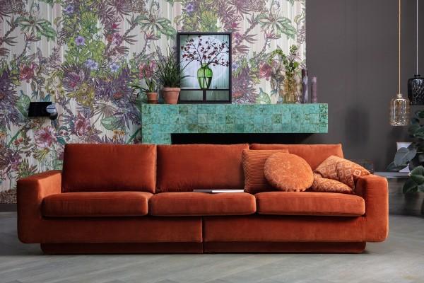 Sofa Fame 3-Sitzer 282 cm - Samt Rust
