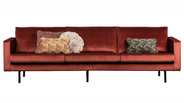 Sofa Rodeo 3-Sitzer - Samt Chestnut