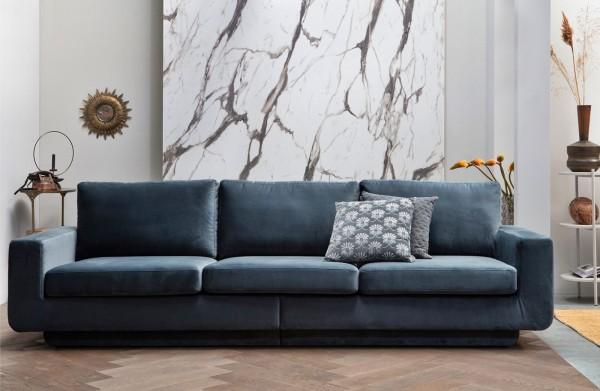 Sofa Fame 3-Sitzer 282 cm - Samt Tiel