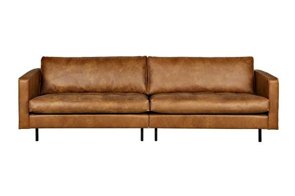 Sofa Rodeo 3-Sitzer 275 cm - 2er Optik - Leder Cognac