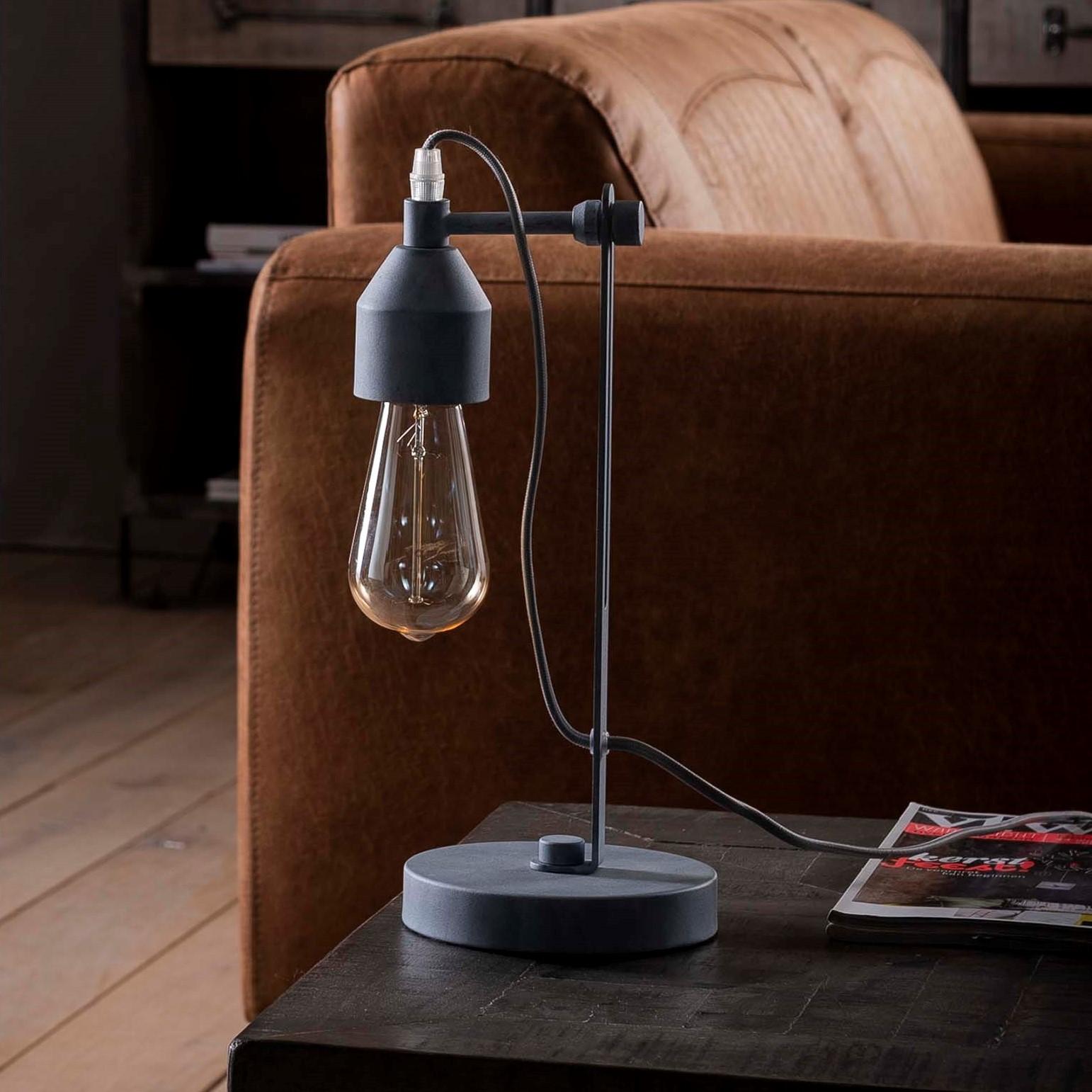 tischlampe tischleuchte beton look minimalistisch wohnaura m bel mit ausstrahlung. Black Bedroom Furniture Sets. Home Design Ideas