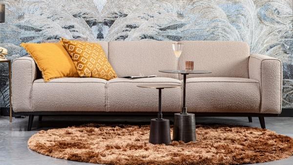 Sofa Statement 3-Sitzer - Bouclé Beige