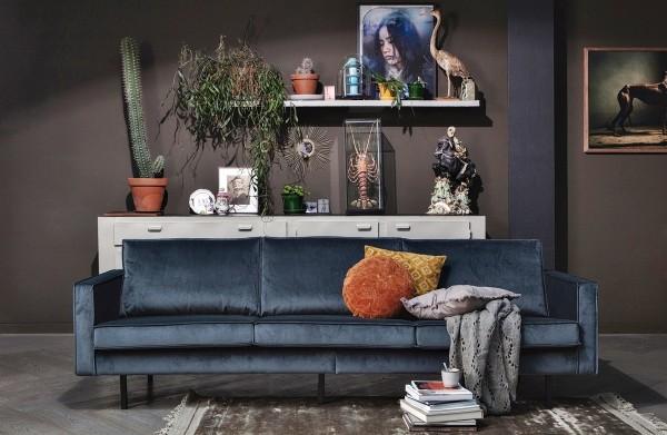 Sofa Rodeo 3-Sitzer 275 cm - Samt Teal