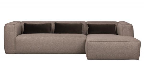Longchair-Sofa Bean Rechts - Stoff Taupe