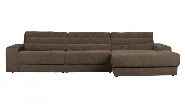 Longchair-Sofa Date Rechts - Vintage Brown