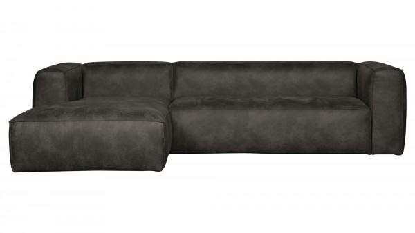 Longchair-Sofa Bean Links - Leder Black