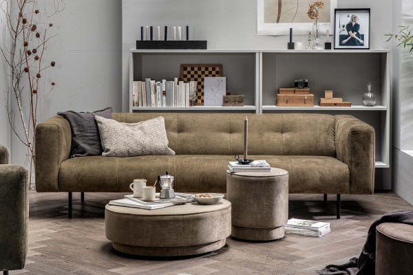Sofa Skin 4 Sitzer 250 cm - Stoff Olive Green