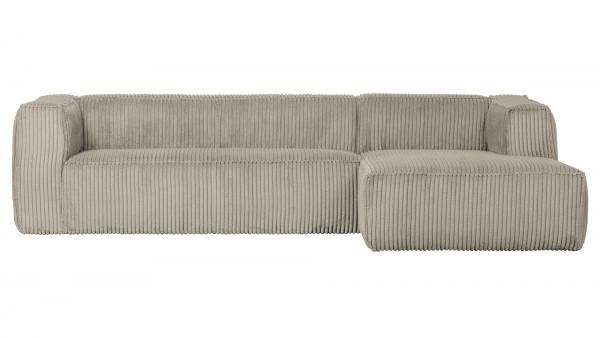 Longchair-Sofa Bean Rechts - Ribcord Natural