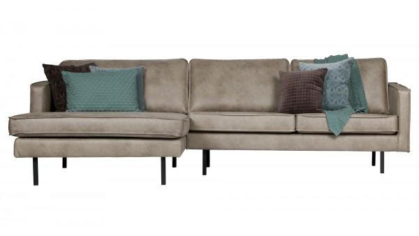 Longchair-Sofa Rodeo Links - Kunstleder Elephant Skin