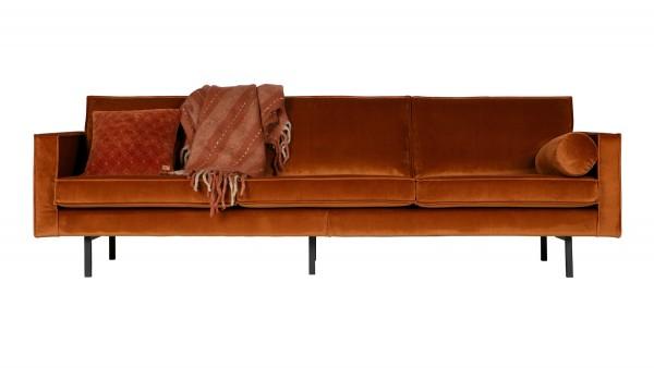 Sofa Rodeo 3-Sitzer - Samt Rust