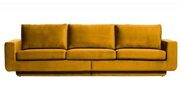 Sofa Fame 3-Sitzer - Samt Ochre